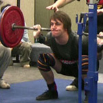 Andy with a 135kg PB squat