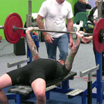Andy with an 82.5kg bench