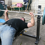 Hannibal midway through a 137.5kg PB