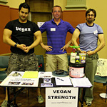 Hannibal, Dave and Ivan at the vegan strength stall