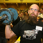 Mark the strength comp runner up during his 41 rep set.
