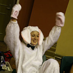The victorious bunny..